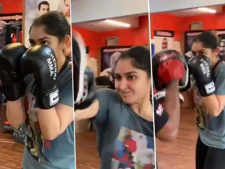 Arya's new boxing partner Sayyeshaa's training viral video - WATCH here!