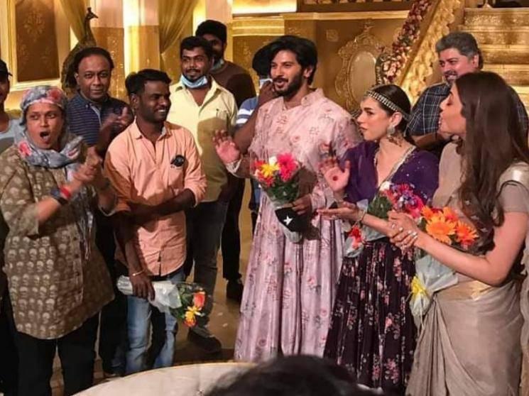 Dulquer Salmaan's Hey Sinamika wrapped | Brinda master | Kajal Aggarwal | Aditi Rao Hydari