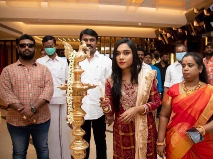Film financier Anbuchezhian's daughter Sushmitha opens three-screen multiplex in Madurai