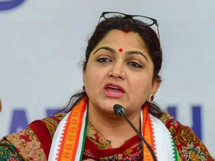 Khushbu Sundar resigns from Congress party, submits resignation to Sonia Gandhi