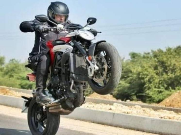 First big glimpse of Thala Ajith's Valimai bike stunt scene - pic goes viral!