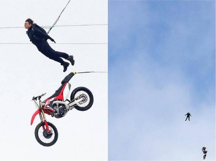 Tom Cruises Mission Impossible 7 dangerous motorbike stunt in Norway, shooting spot viral video