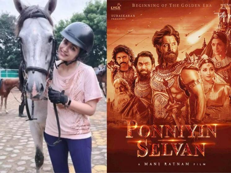 Trisha's ordeal during horse riding lessons for Mani Ratnam's Ponniyin Selvan