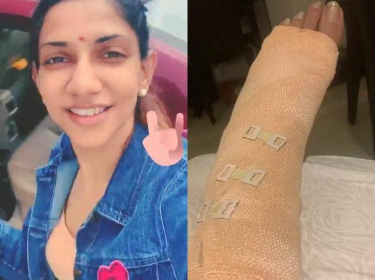 VIDEO: VJ Bhavna injures her leg before leaving for IPL 2020!