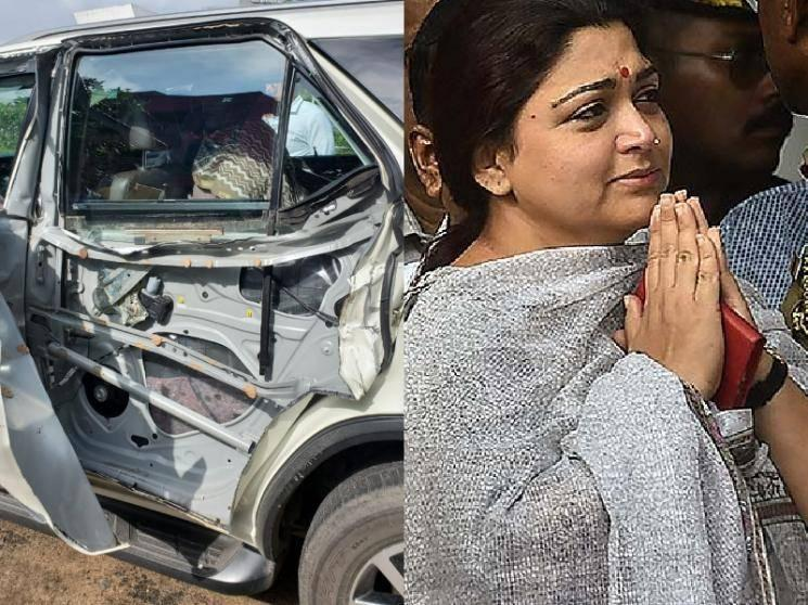 Actress Khushbu meets with an accident - escapes unhurt | Important details here!
