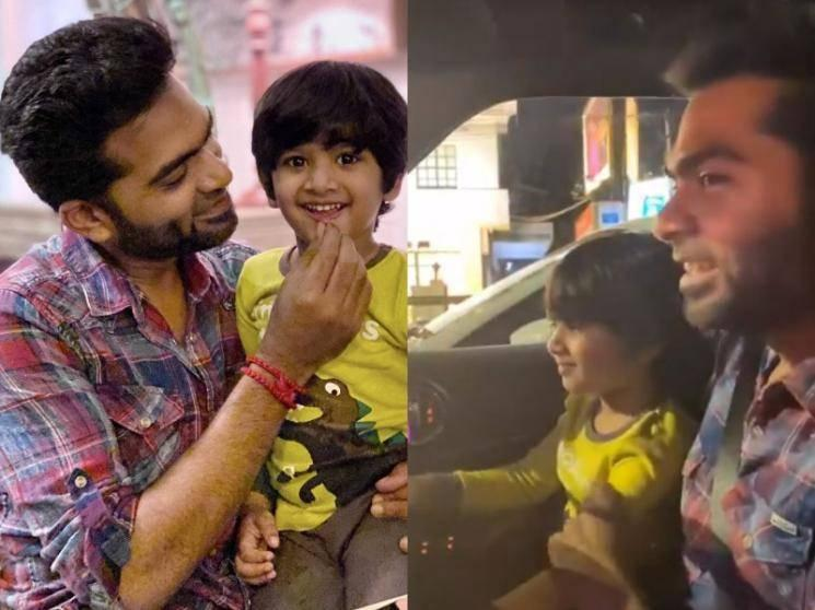 Silambarasan TR's time out with nephew and family | Cute Viral Video