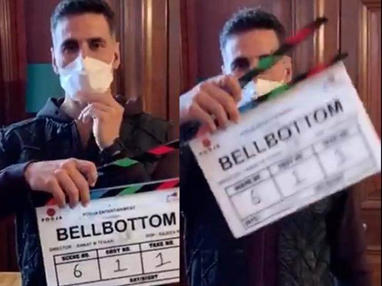 Akshay Kumar's Bell Bottom shooting begins in UK amidst pandemic | First Big Film to go on floors!